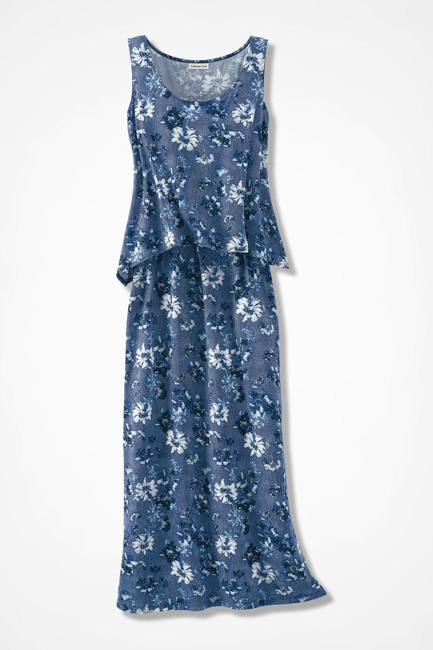 07375d4d8 Indigo Illusion Popover Maxi Dress