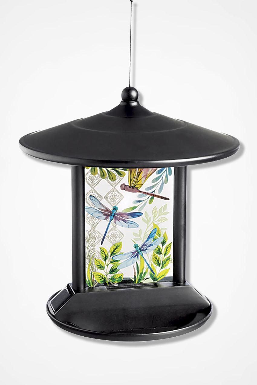 Delightful Dragonflies Solar Light Birdfeeder Multi Large
