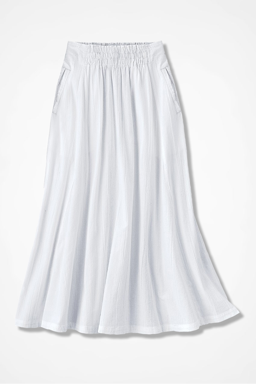 bf3446ed89 Crinkle Cotton Skirt - Coldwater Creek