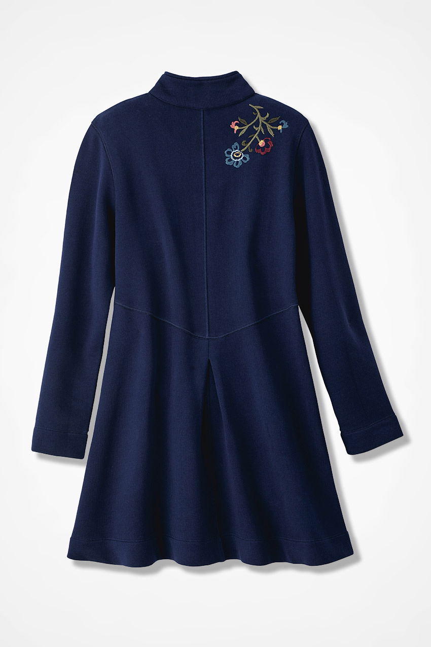 Highmount embroidered french terry jacket coldwater creek
