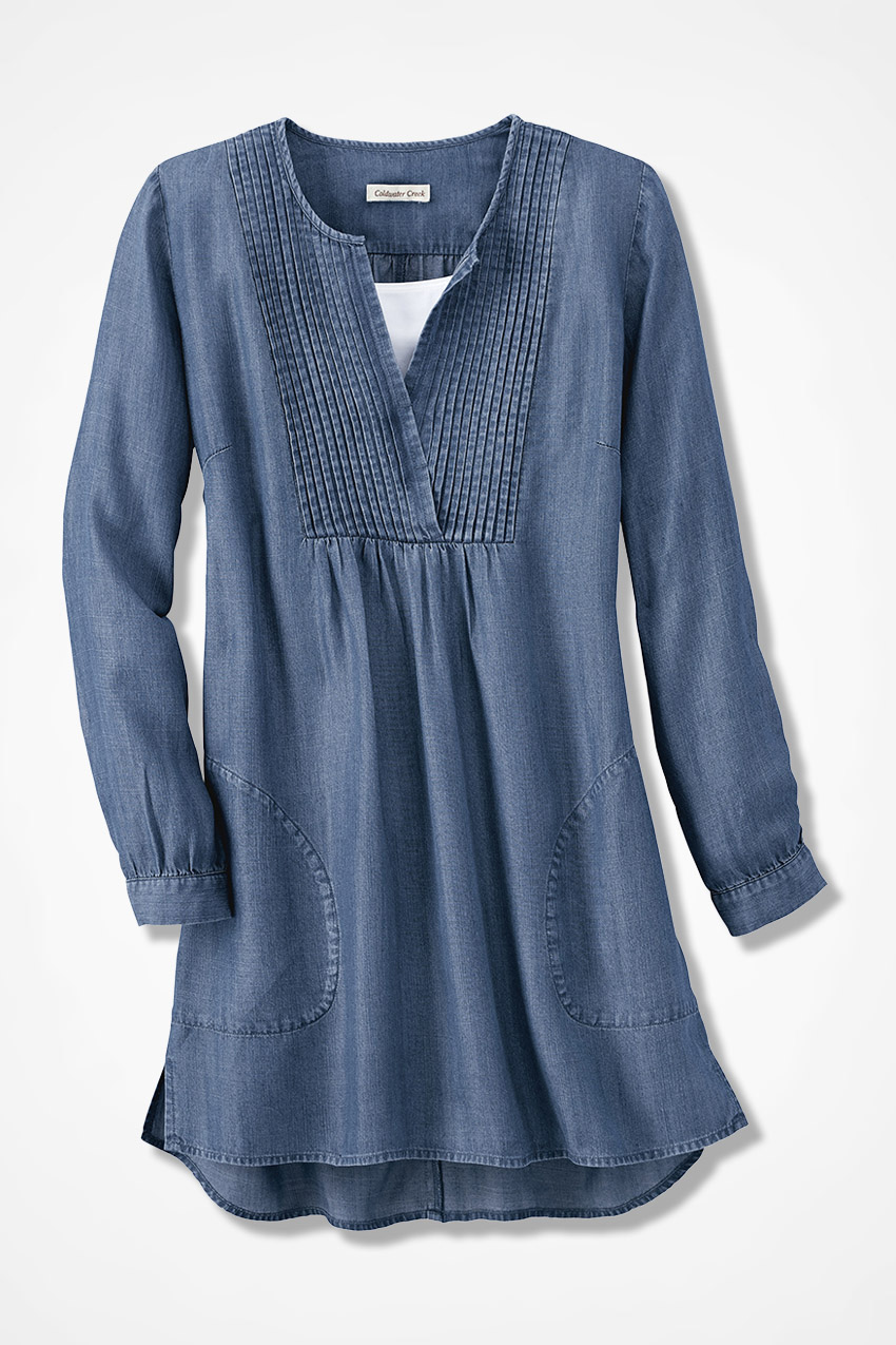 Tencel 174 Pintuck Tunic Coldwater Creek