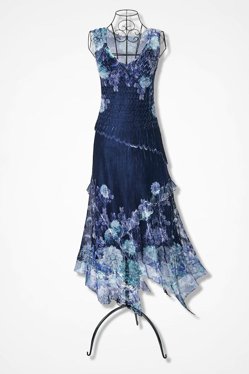 Night Sky Floral Dress by Komarov