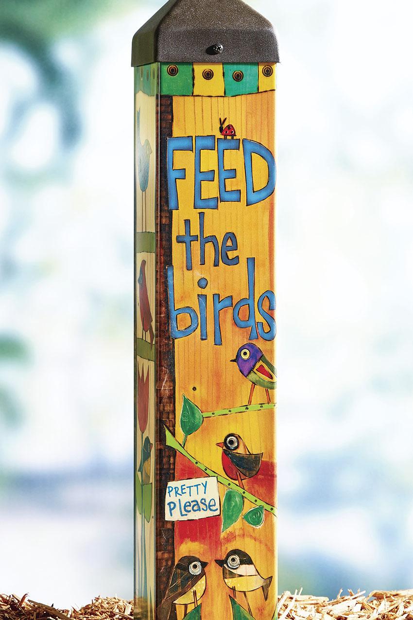 Feed the Birds Art Pole