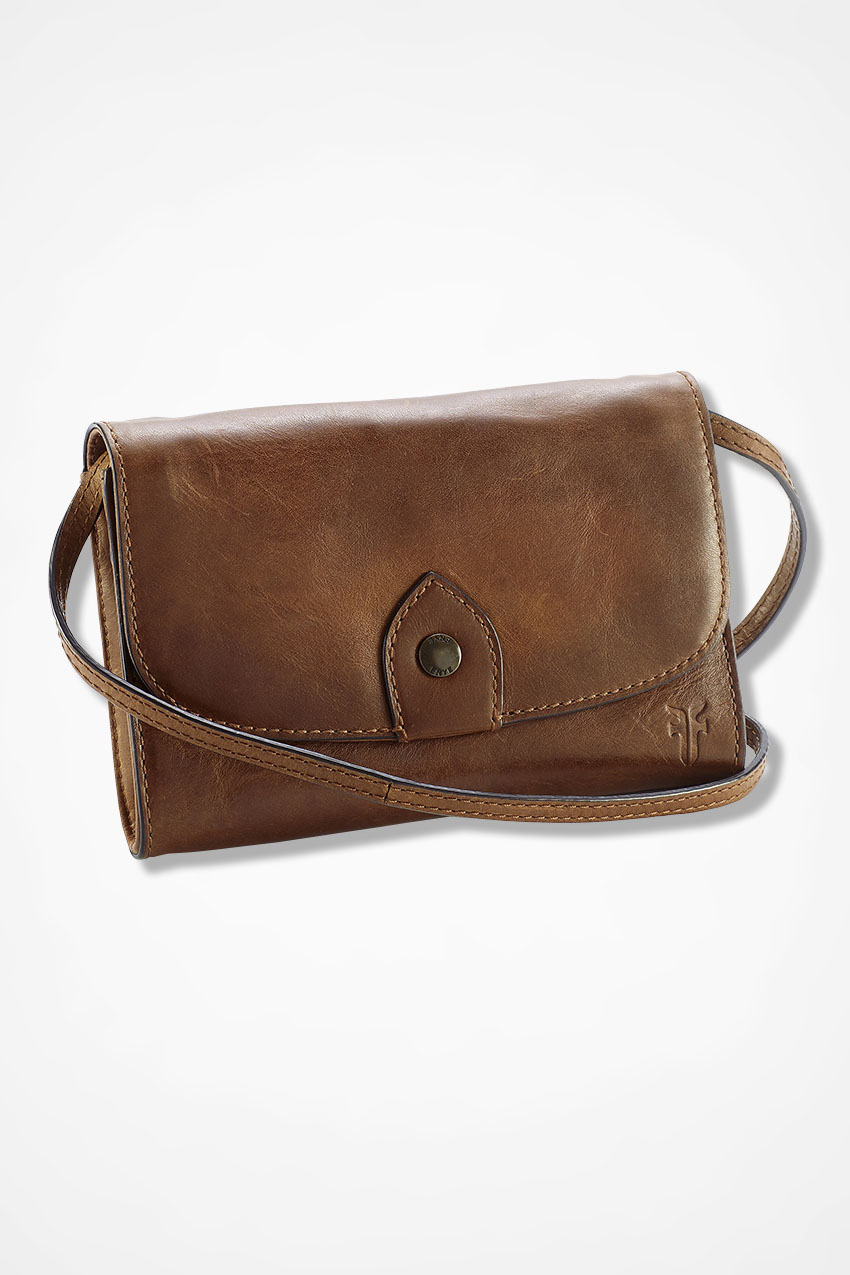 Vintage Handbags, Purses, Bags *New* Coldwater Creek Melissa Convertible Crossbody Leather Bag by Frye in Cognac Size ONE $197.95 AT vintagedancer.com