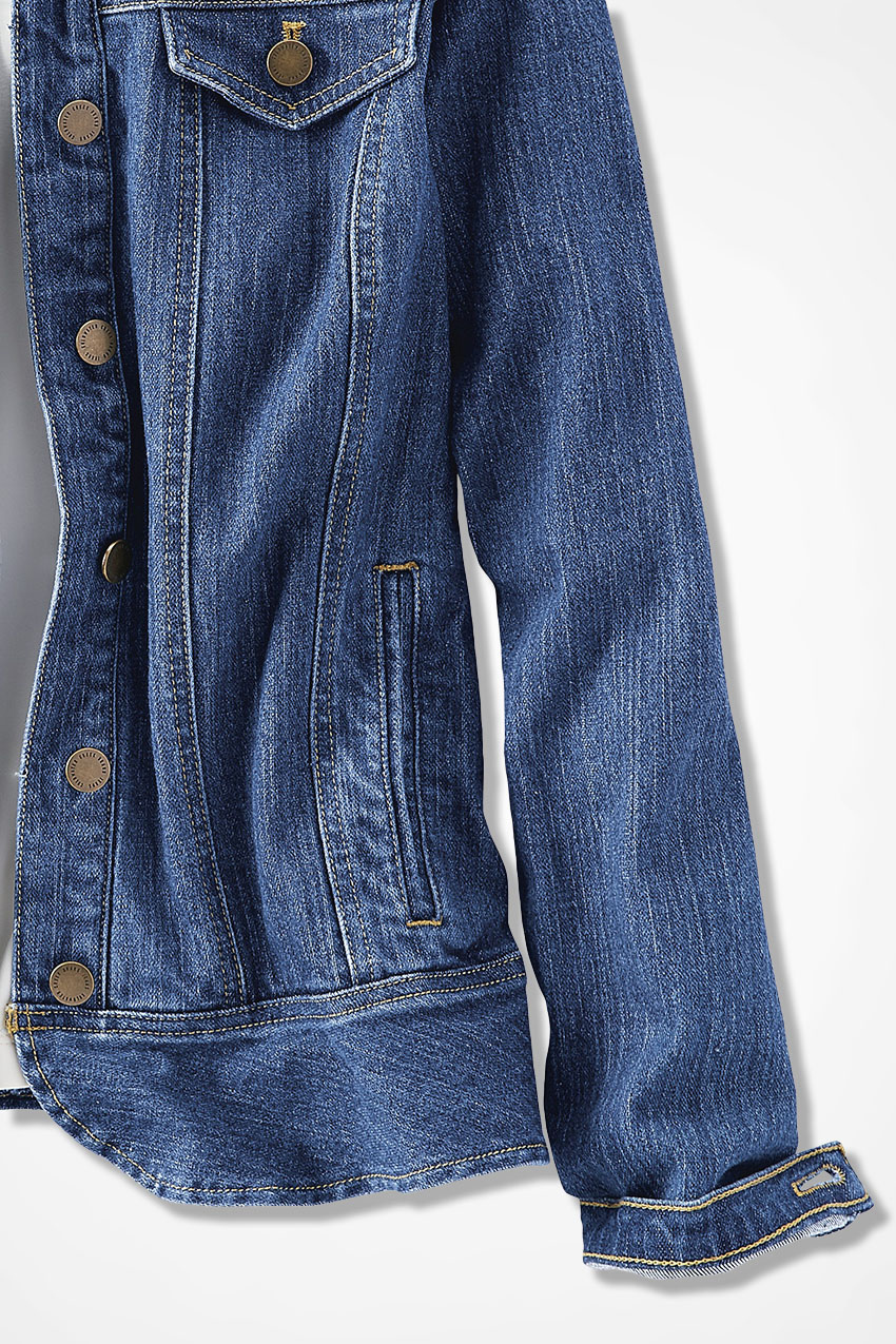 100% satisfaction guarantee luxury aesthetic latest releases Denim Peplum Jacket