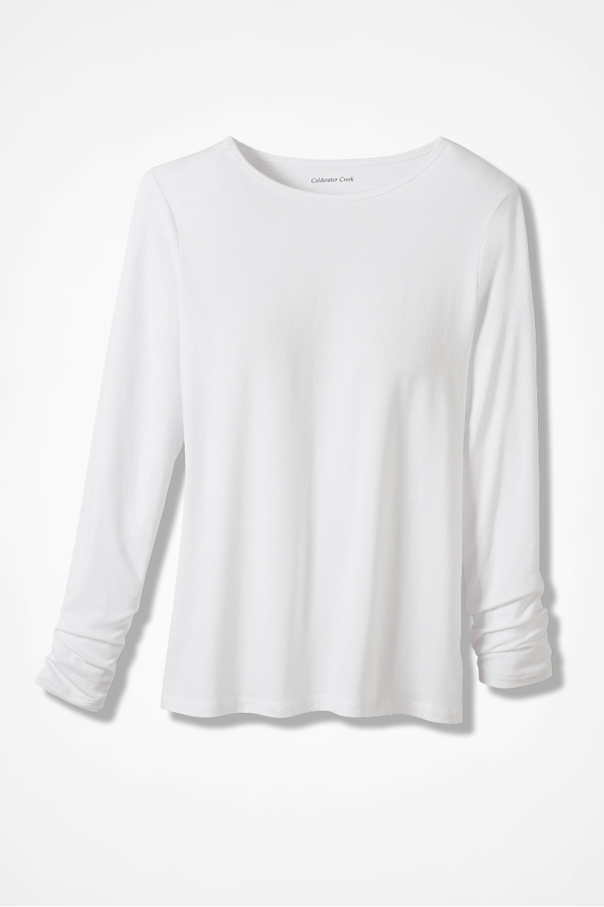 a354cb783e0f2c PrimaKnit™ Crew Neck Tee - Knits | Coldwater Creek