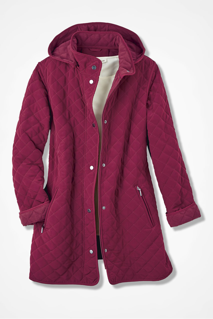 Hooded Quilted Car Coat - Coldwater Creek