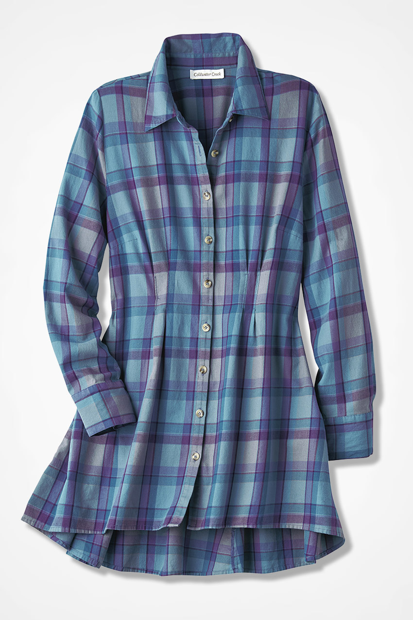 Repertoire Plaid Tunic Coldwater Creek