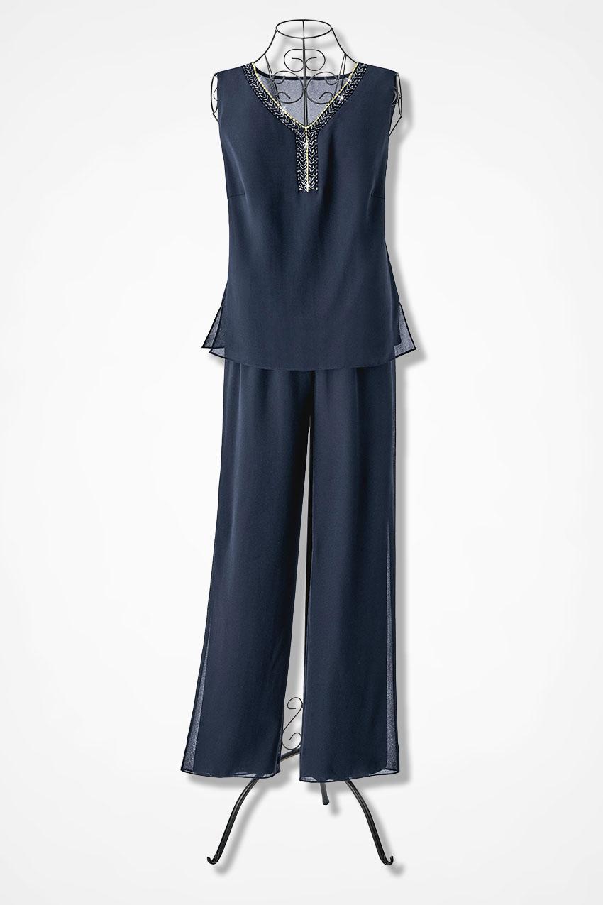 Sheer Elegance 3-Piece Pants Set - Coldwater Creek