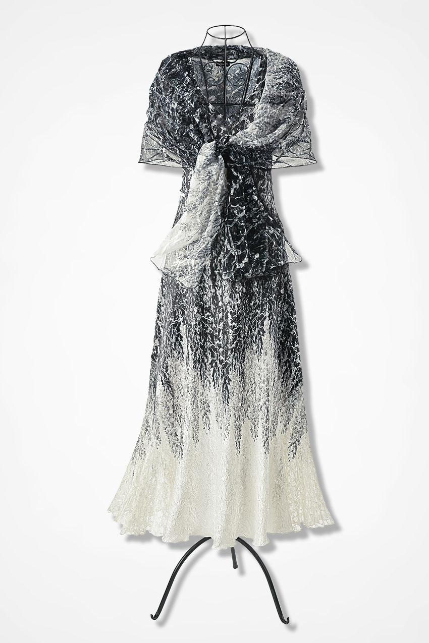 Dream Print Dress by Komarov - Coldwater Creek