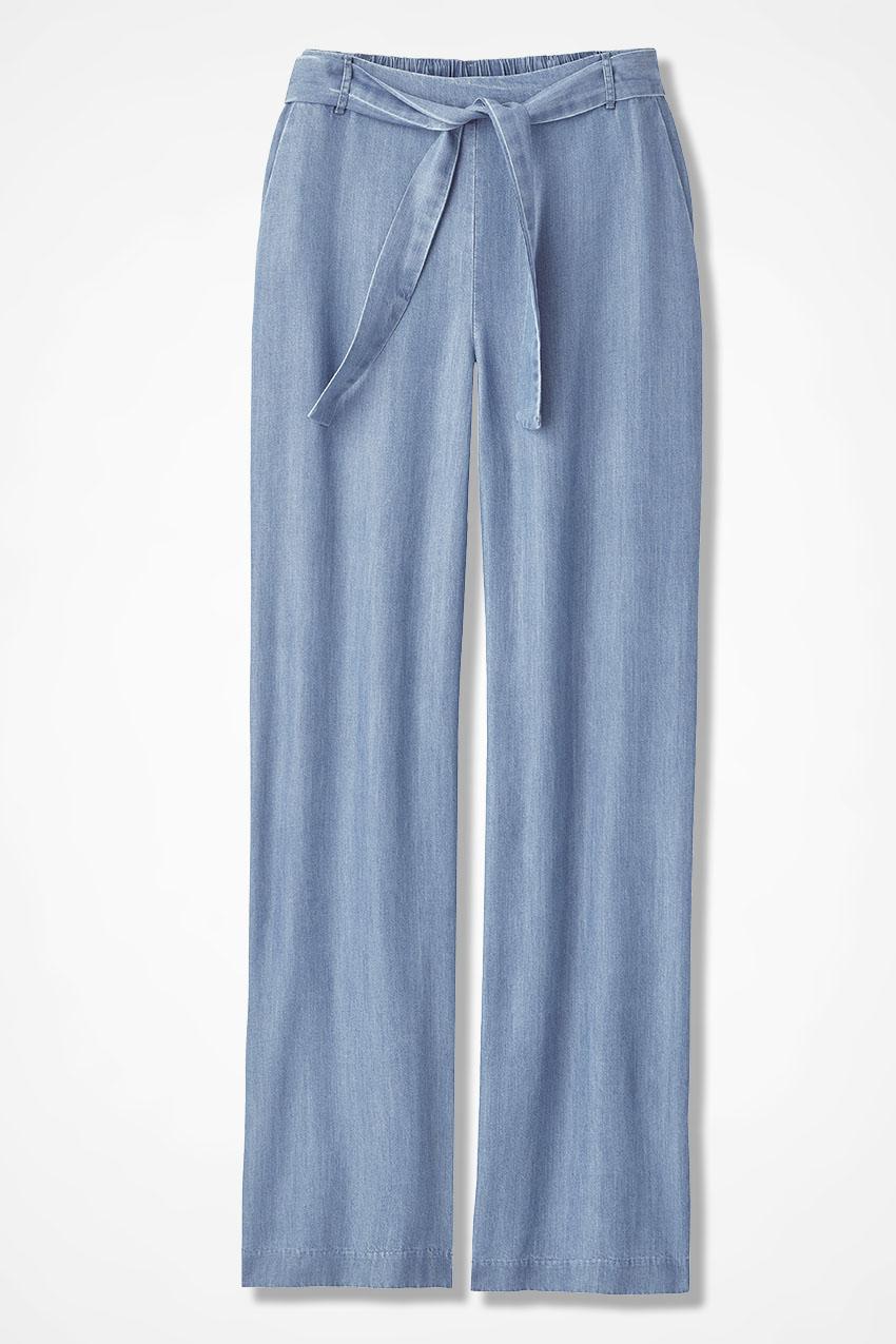 0a6da6ed Tencel® Pavilion Pants, Light Indigo, large