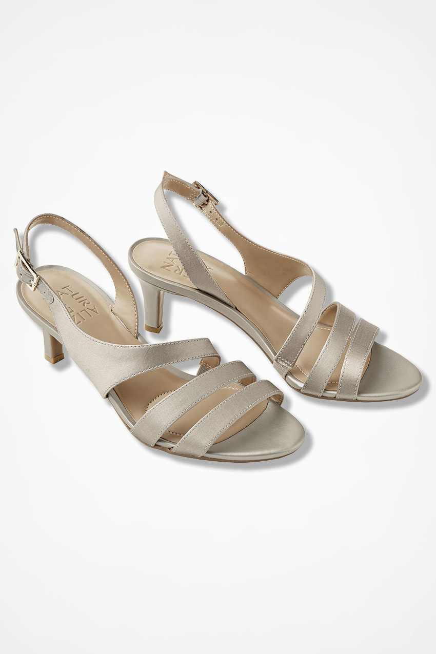 60s Shoes, Boots Coldwater Creek Taimi Sandals by Naturalizer in Champagne Size 11 Medium $59.99 AT vintagedancer.com