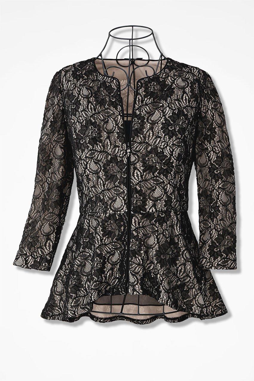 captivating lace jacket by alex evenings coldwater creek