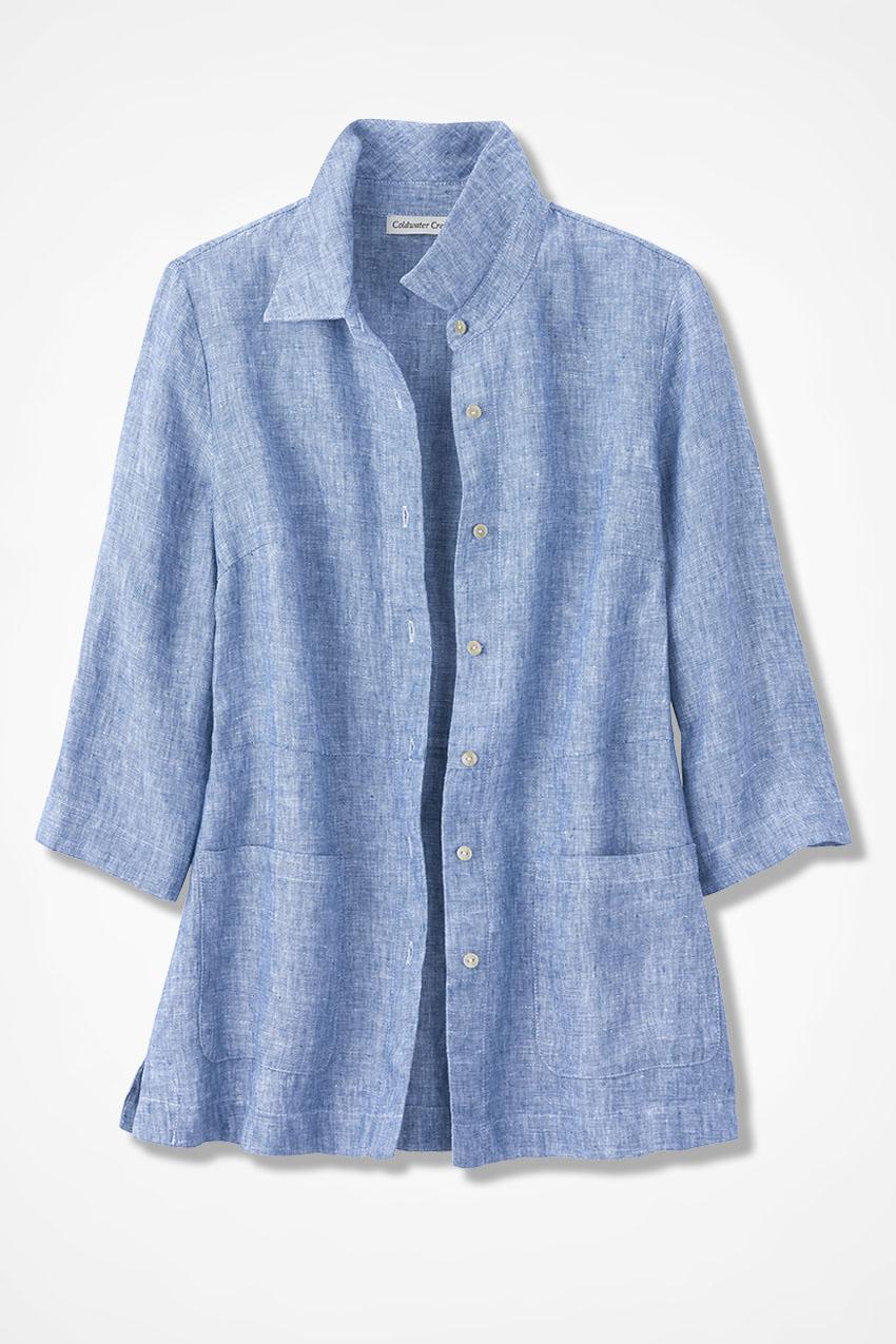 f1c4d9c7f1f Easy Linen Shirt Jacket - Coldwater Creek