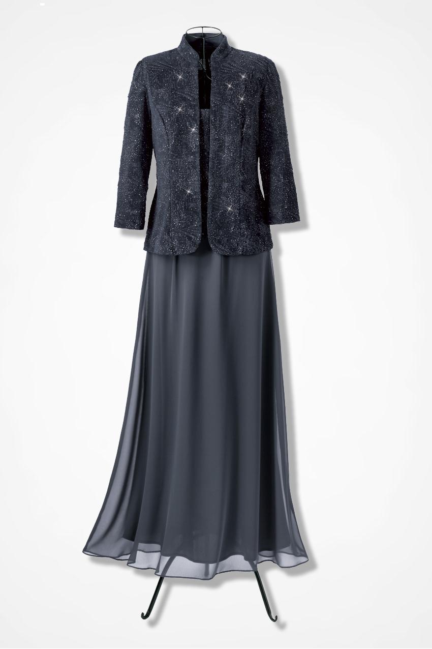Twilight Jacket Dress by Alex Evenings - Coldwater Creek