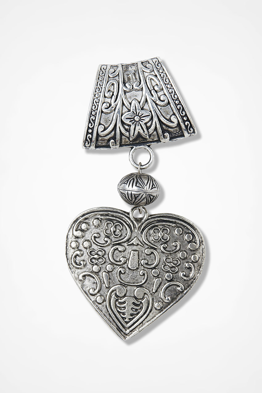 Heart filigree scarf pendant coldwater creek heart filigree scarf pendant silver large aloadofball Image collections