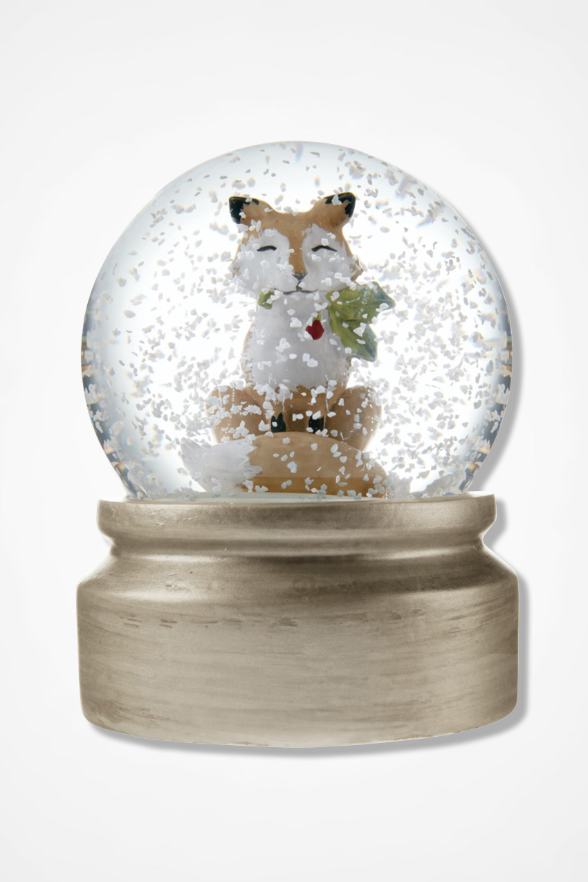 fox snow globe coloring pages - photo#9