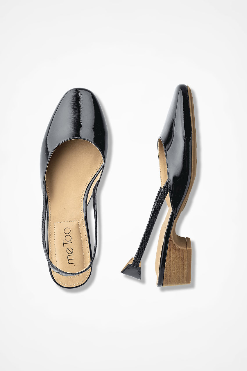 """d2a48fc921 """"Giana"""" Patent Leather Slingbacks by Me Too®, Black, large. Wide Width · """""""
