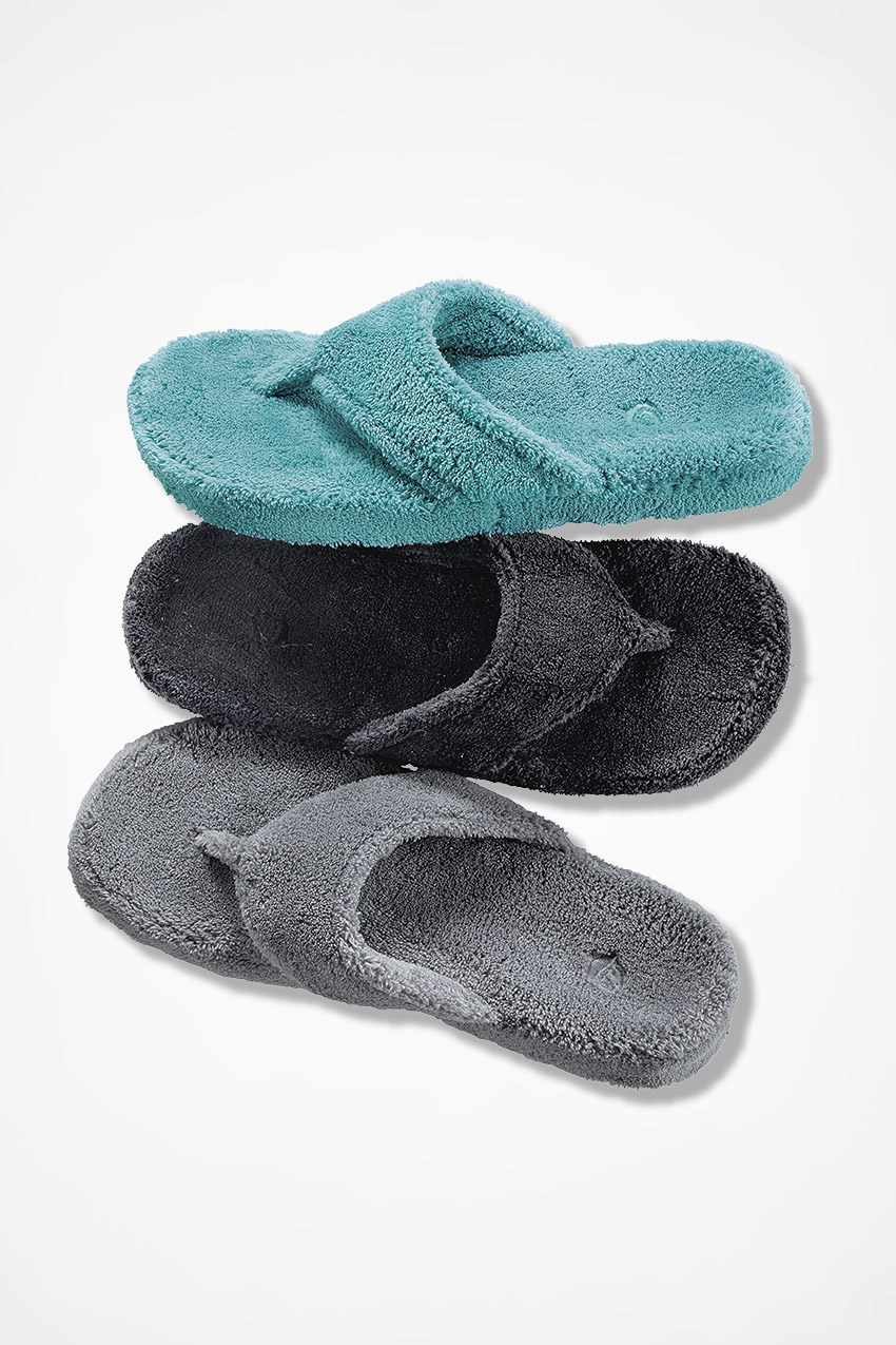 """a42fea8d4e2 Spa Thong"""" Slippers by Acorn® - Coldwater Creek"""