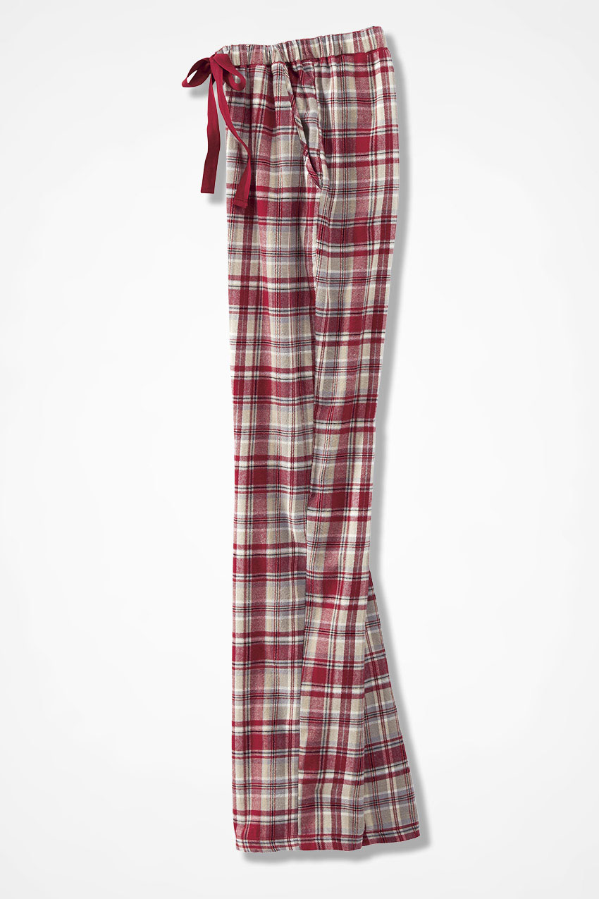 d6e1f3b680bf Plaid Flannel PJ Pants, Dover Red, large