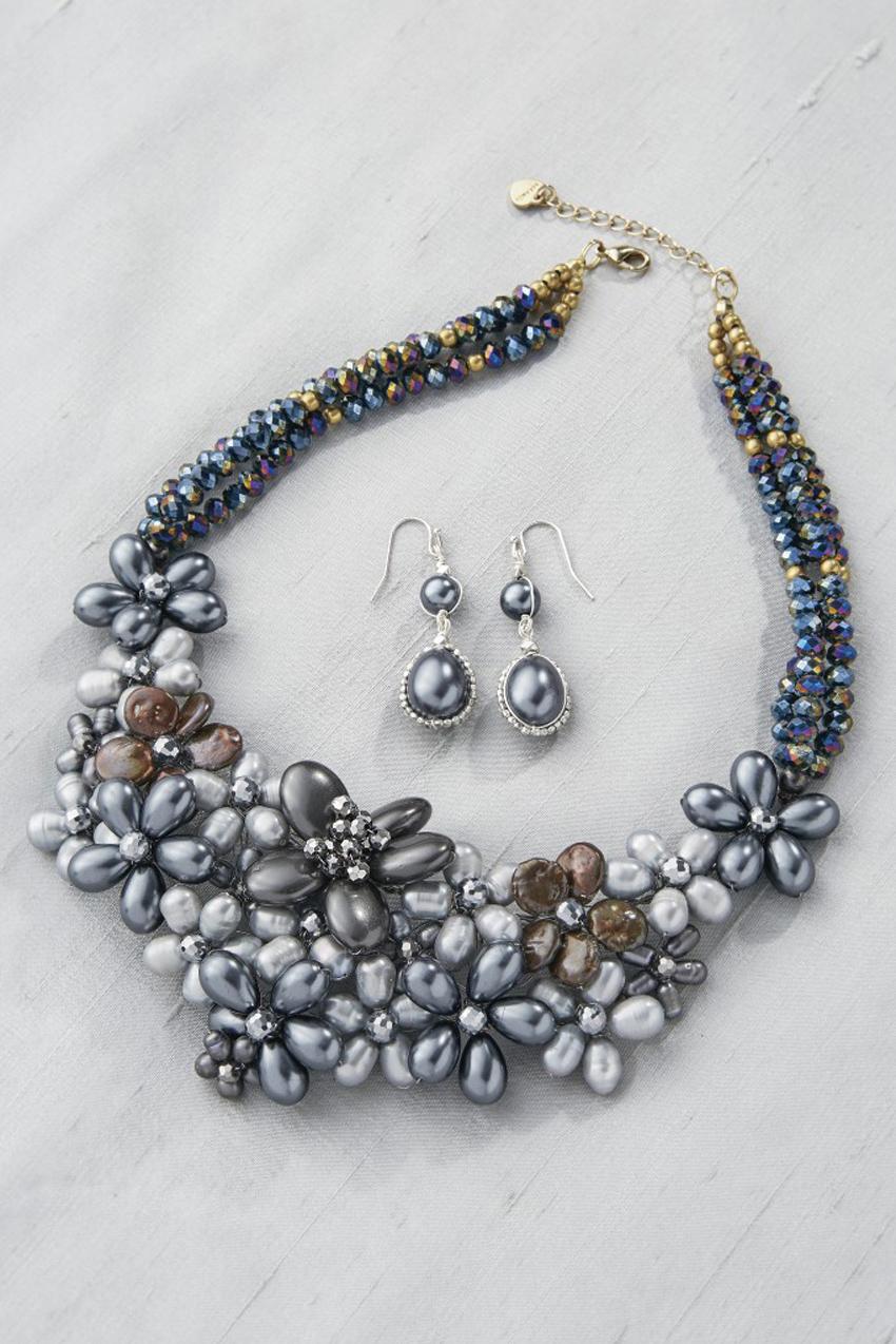 Pearl Garden Statement Earrings