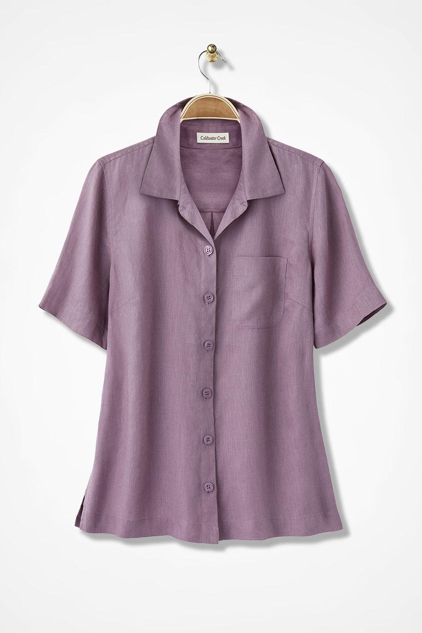 660012ce Linen Camp Shirt - Coldwater Creek