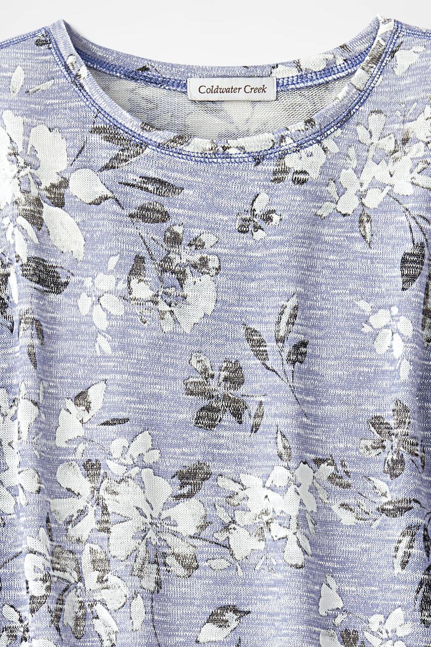 ebf3c2aa419 Festival of Flowers Knit Tunic, Light Periwinkle, large