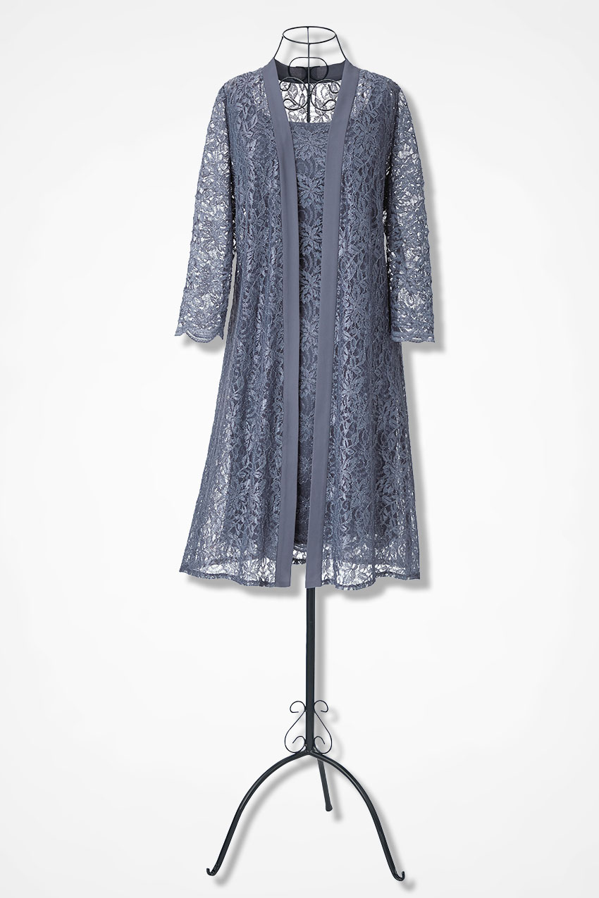 6a7f1a3ab6 Timeless Lace Jacket Dress by Alex Evenings, Indigo Blue, large