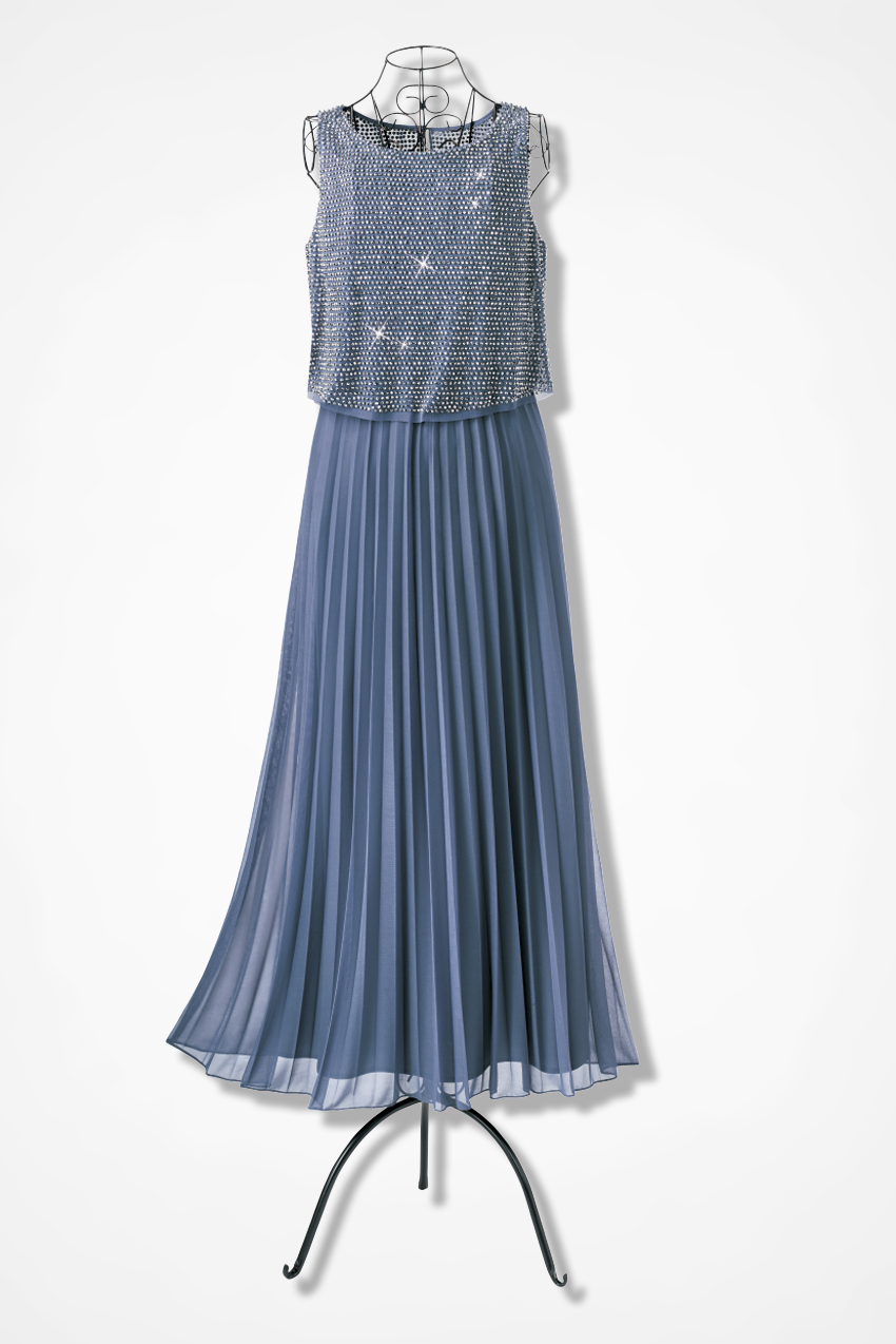Silver Beaded Gown by Patra - Coldwater Creek