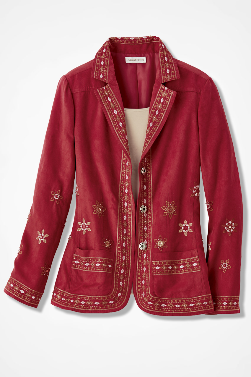 Canyon road embroidered jacket coldwater creek