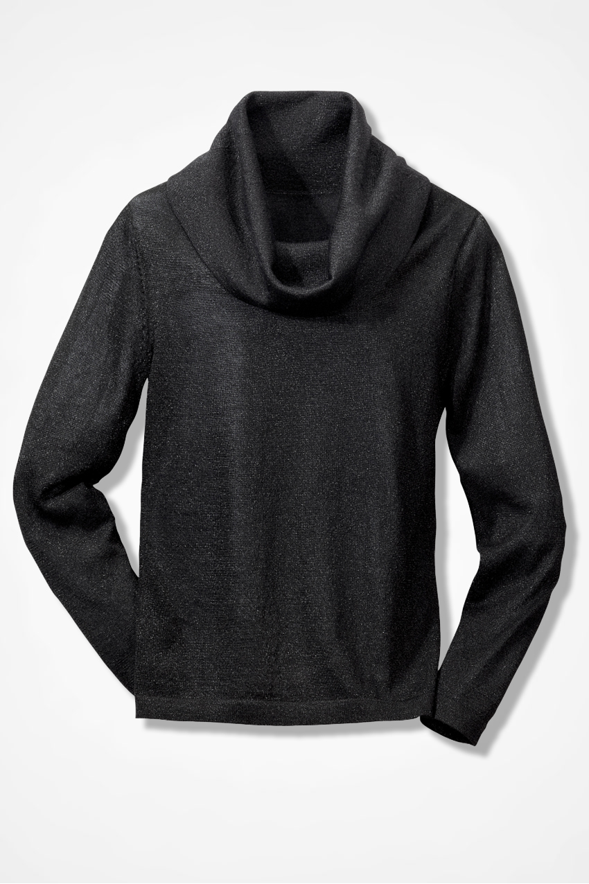 Shimmer Cowl Neck Pullover - Sweaters | Coldwater Creek